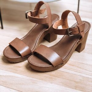 4d06e7189 Never worn brown wedge sandal